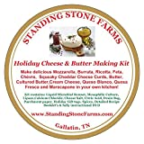 "Our Exclusive ""Holiday"" Cheese & Butter Making Kit Plus Wine & Cheese Pairing Wheel!"