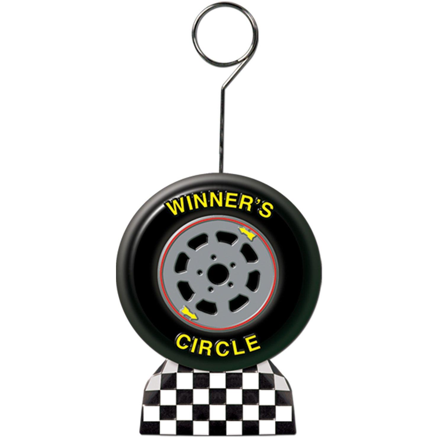 Checkered Flag/Racing Tire Photo/Balloon Holder
