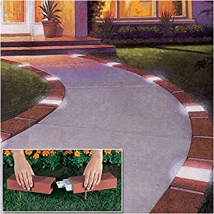Lets Edge It Decorative Plastic Brick Edging With 4 Built-In <a href=