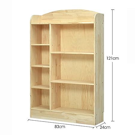XIAOXIAO Scaffale di stoccaggio per bambini multifunzione a 3 strati in legno massiccio Facile da spostare ( Colore : B )