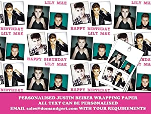 Justin Bieber Wrapping Paper! #BlackFriday