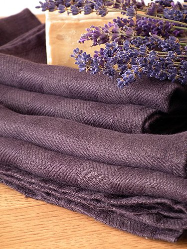 Aubergine Linen Bath Towels Set Lucas