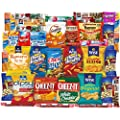 Super Care Package Snacks Cookies Candy Bulk Sampler (40 Count) by Custom Varietea
