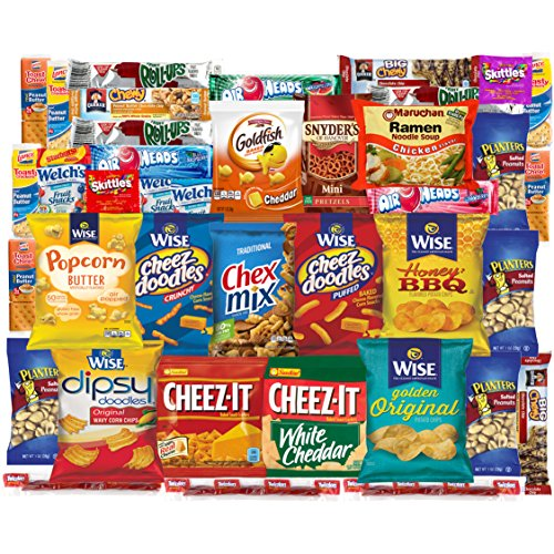 Super Care Package Snacks Cookies Candy Bulk Sampler (40 Count) (Super Hot Cheese Dip compare prices)