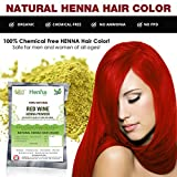 Allin Exporters Red Wine Henna Hair Color - 100% Organic and Chemical Free Henna for Hair Color Hair Care - ( 120 Gram = 2 Packet)