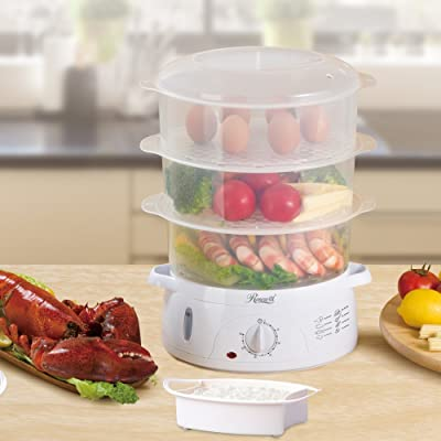 Rosewill RHST-15001 3-Tier Stackable Baskets Electric Food Steamer Via Amazon
