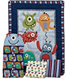 CoCo & Company Monster Buds 4 Piece Crib Bedding Set (Discontinued by Manufacturer)