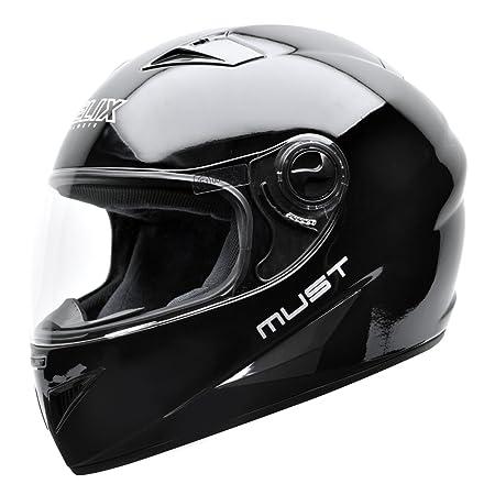 NZI 150204G046 Must B Casque de Moto, Noir, Taille : XS