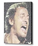 Bruce Springsteen Born to Run Incredible Lyrics Mosaic 9x11 Inch Framed Limited Edition with COA