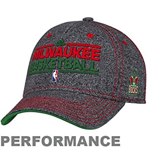 NBA adidas Milwaukee Bucks Authentic Performance Practice Graphic Flex Hat -... by adidas