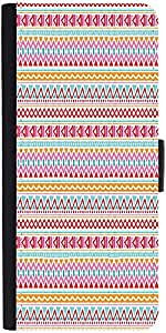 Snoogg Aztec Pink Lines Designer Protective Phone Flip Case Cover For Lenovo A6000