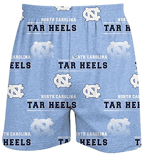 UNC Tarheels Mens Carolina Blue Oversized Fusion Boxer