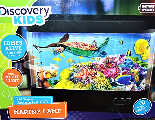 Discovery Kids Animated Tropical Fish Marine Aquarium Lamp 360 Degree Animated Led Built-In Sleep Function Shuts Lamp Off After 30 Minutes front-992321