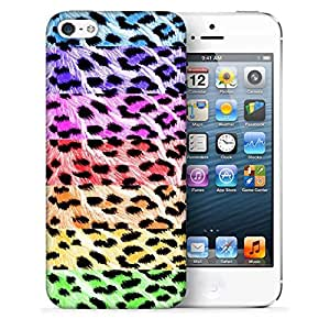 Snoogg Colorful Chetah Designer Protective Back Case Cover For IPHONE 5