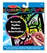 Melissa & Doug Scratch Magic Butterfly Light Catcher Fun Kit
