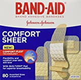 Band-Aid Adhesive Bandages Sheer All One Size 40 sterile bandages