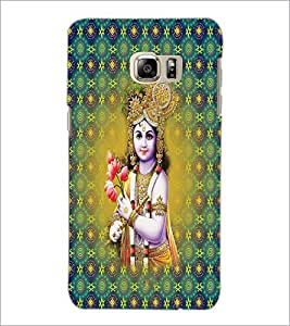 PrintDhaba Lord Krishna D-2665 Back Case Cover for SAMSUNG GALAXY NOTE 5 EDGE (Multi-Coloured)