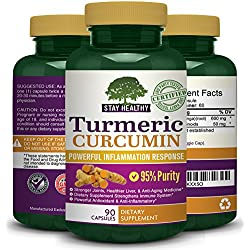 1300mg Pure Turmeric Curcumin Extract ★ Antioxidant Supports Joint Pain Relief ★ Inflammation Response ★ All Natural Organic Quality Anti-Inflammatory Vitamins That Supports a Healthy Immune System, Stronger Joints, Healthier Liver ★ Includes 90 Capsules Per Bottle