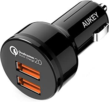 Aukey 36W 2-Port USB Car Charger Adapter