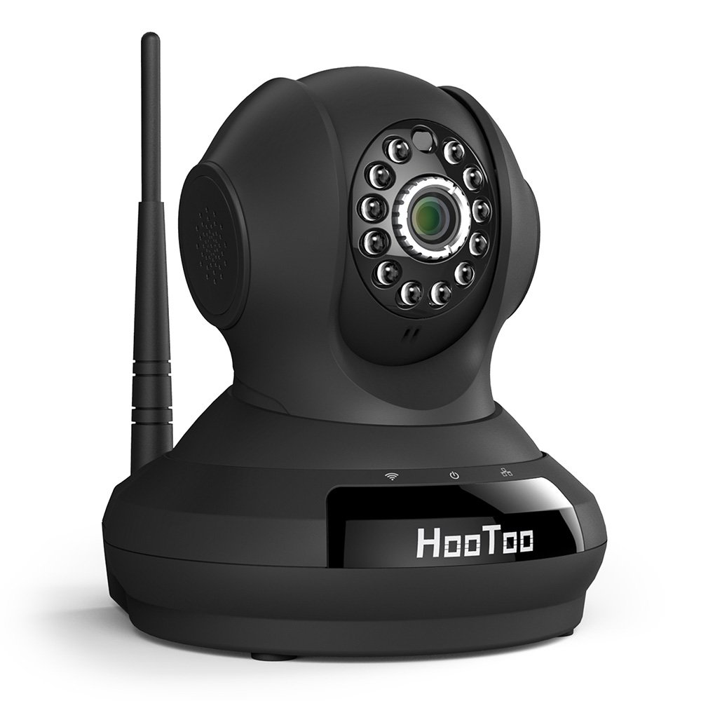 HooToo Cloud IP Camera with Cloud Storage & HD Video Streaming (Night Vision Mode with 12 IR LED Lights for 32 Feet; Apple iOS/Android/PC Support)