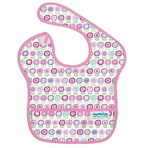 bumkins(バンキンス) スーパービブ/スタイ 洗濯機でも洗えるお食事用防水ビブ 6~24ヶ月 Bloom(ピンク) S-750
