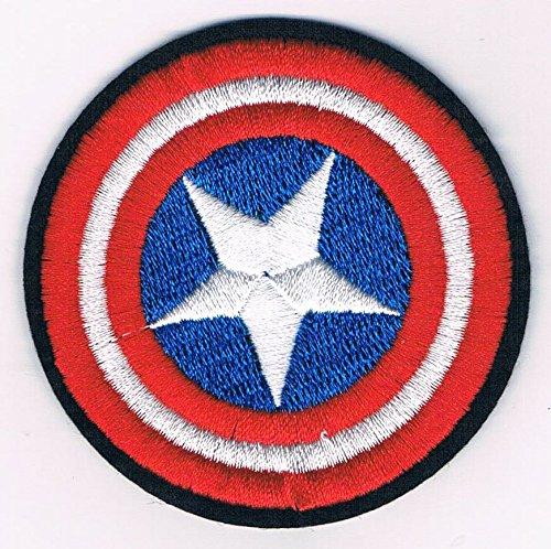 Captain America Marvel Comics Shield Logo Embroidered Iron on Patch (Captain America Logo Iron On compare prices)