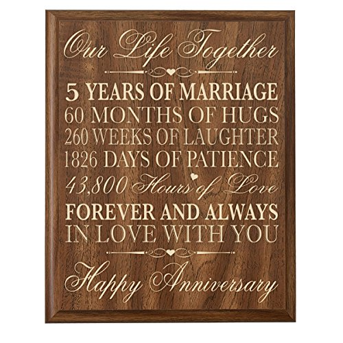 5th wedding anniversary wall plaque gifts for couple 5th for 5th wedding anniversary gift