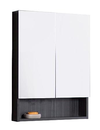 American Imaginations AI-14-543 Modern Plywood-Melamine Medicine Cabinet, 24-Inch x 32-Inch, Dawn Grey Finish