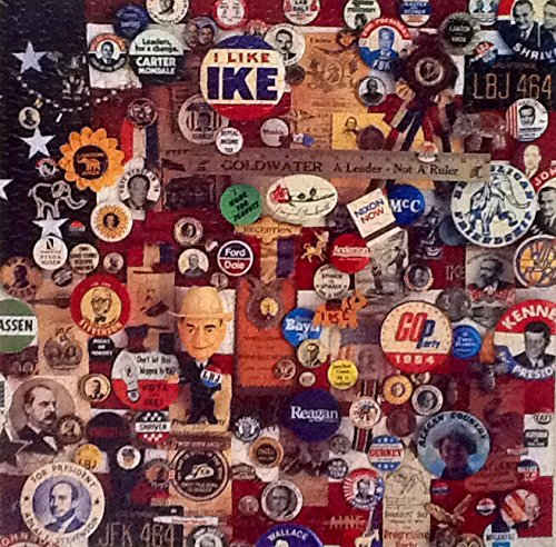 Pick-A-Winner-Vintage-Springbok-Puzzle-500-Piece-Presidential-Campaign-Buttons-Pins