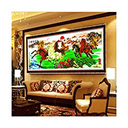 Printing Diamond Painting A Portrait of Eight Breed Cross Stitch Success Immediately Upon Arrival Living Room Landscape Painting