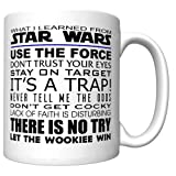What I Learned From Star Wars Coffee Mug (Newest Edition) [SW] (Color: White)