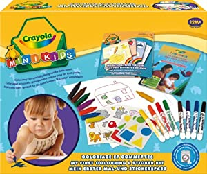 Crayola 10570 - Mi Primer Set De Colorear Y De Pegatinas
