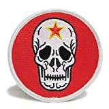 自衛隊グッズ ワッペン 小松基地 飛行教導群 ドクロ 赤色 パッチ ベルクロ付