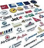 【厳選35枚セット】 海外 航空 空港 ステッカー/ シール 防水加工紙・型切り出しタイプ (欧州系エアライン メイン)