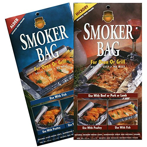 Savu Smoker Bag For Oven/Grill, The Original, In Alder(2) And Hickory(2), 4 Pack