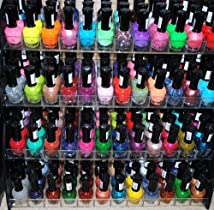 48 Piece Rainbow Colors Glitter CVC Nail Polish Lacquer Set + 3 Scented Nail Polish Remover