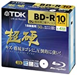 TDK Blu-ray BD-R DL Disk Super Hard Coating Surface Inkjet Printable 50GB (DL) 4x Speed 10 Pack [Version 2012 Life on Record]