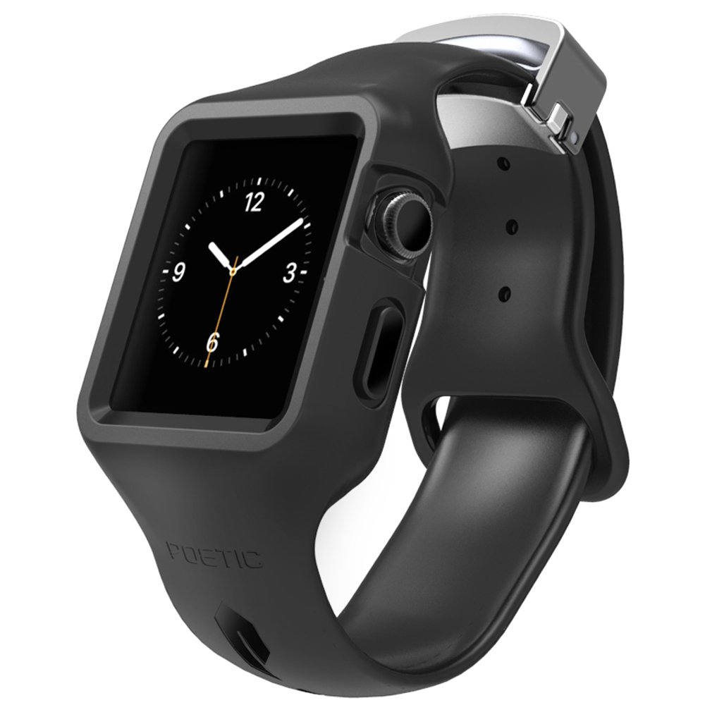 Apple Watch Band - Poetic [Sport Fit Series] - Protective Silicone TPU Case for Apple Watch kakapi classic buckle genuine leather wrist band for apple watch 42mm series 1 series 2 black