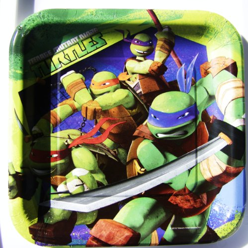 Discover Bargain Teenage Mutant Ninja Dinner Lunch Plates 8 Count Paper