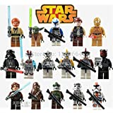 16pcs/Set STAR WARS Collection Sith Jedi Knight Building Bricks Blocks Super Hero Figures Minifigures Toys Compatible With Lego