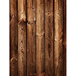 Photography Weathered Faux Wood Floor Drop Background Mat CF1668 Rubber Backing, 4\'x5\' High Quality Printing, Roll up for Easy Storage Photo Prop Carpet Mat