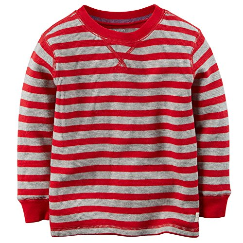 Carter's Little Boys' Striped Thermal Shirt (5T, Red)