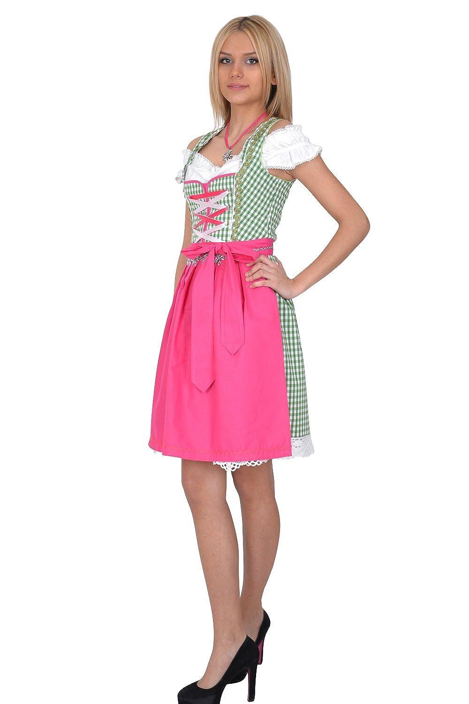 Dirndl Trachtenkleid 3tl. grün weiß kariert bestellen