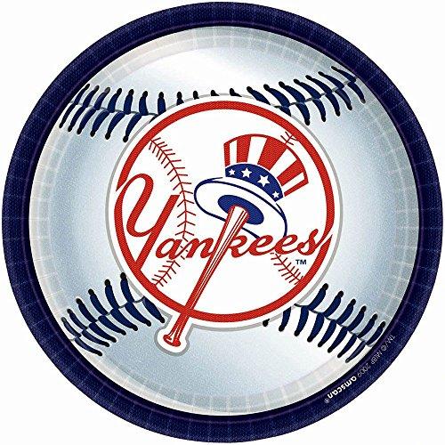 "Yankees Plates, 9"" (18 Pack)"