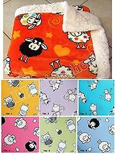 Lovely home coperta plaid agnellato letto singolo 1 for Piani letto della fattoria