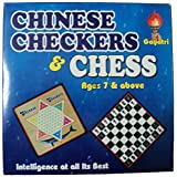 2 In 1 Chess & Chinese Checkers Wooden Board Game