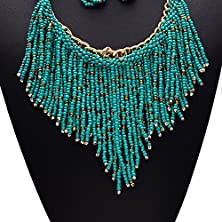 buy Girl Era Best Fashion Hand-Made Multi Bead Tassels Unique Pendant Necklace Charm Necklaces