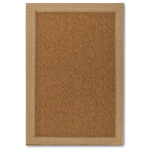 Durable Natural Sisal 2-foot X 3-foot Indoor/Outdoor Rug, Stain & Soil Resistant