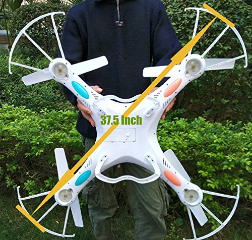 Night lions Tech(TM) 37.5 Inch Monster Drone N7C 4 Channel 6 Axis GYRO Big Quadcopter with HD Camera For Outdoor Flying, Upgraded version