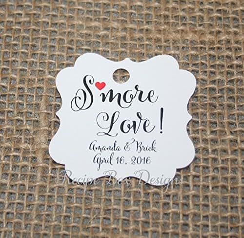 Amazon Wedding Gift Tags : Amazon.com: Smore Love. Sending you Smore Love Wedding Favor Tags48 ...